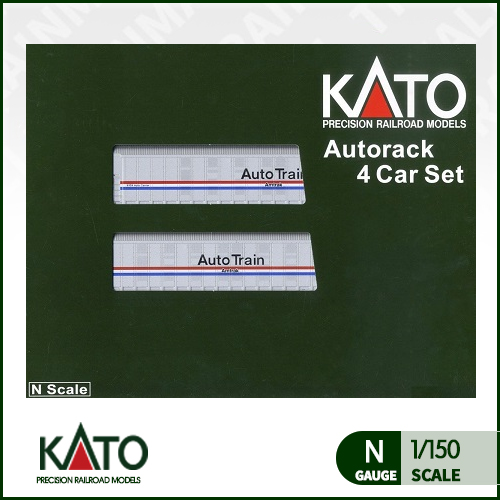 [KATO] 106-5507 Autorack Amtrak(R) Phase III 4 Car Set #1 암트랙 화차 4량 세트트레인몰