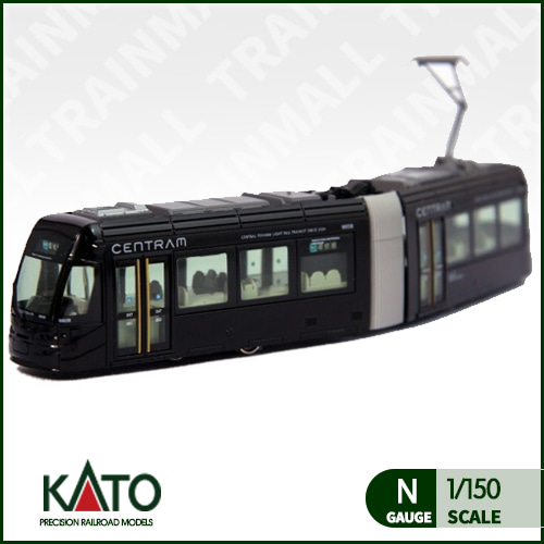 [KATO] 14-802-3 Centram Articulated Tram 9003 in Black of the Toyama LRT트레인몰
