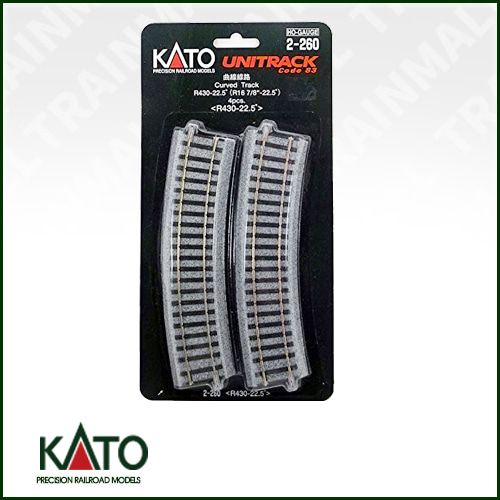 [KATO] 2-260 HO Unitrack 16.875 radius curve 4 pieces트레인몰